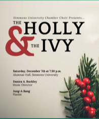 Flyer of the winter concert with picture of holy plant