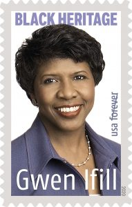 image of Gwen Ifill stamp