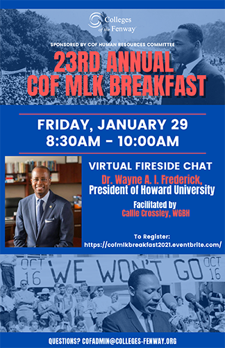 23rd Annual Colleges of the Fenway MLK Breakfast
