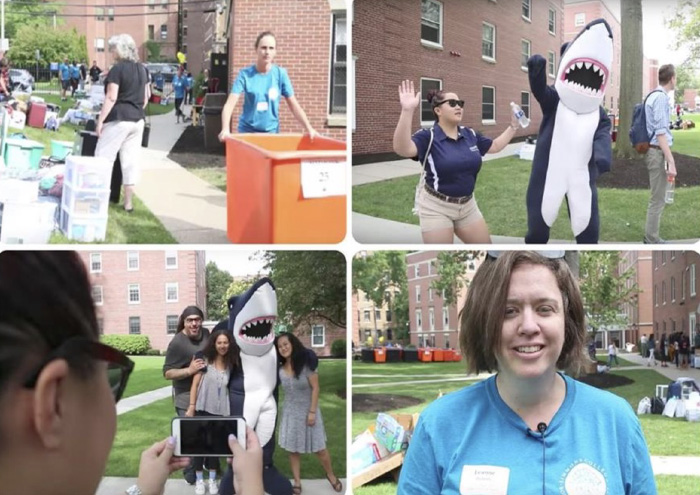 Photos of Street Team on Move-In Day